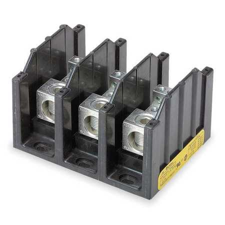 Pwr Dist Block, 310A, 3P, 6P Secondary, 600V