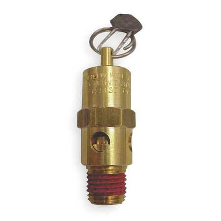 Air Safety Valve, 1/4 In Inlet,  165 psi