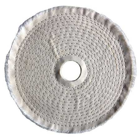 Buffing Wheel, Spiral Sewn, 6 In Dia.