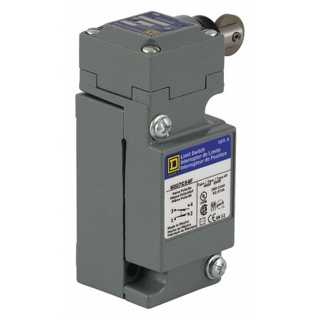 2NC/2NO Heavy Duty Limit Switch Plunger IP 67