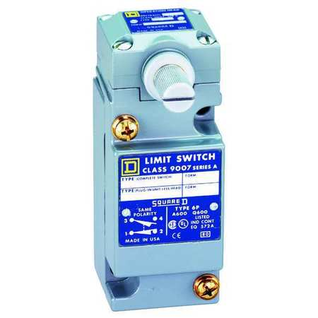 Hvy Dty Lmt Swtch, Side Actuator, 2NO/2NC