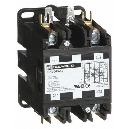120VAC Non-Reversing Definite Purpose Contactor 2P 60A