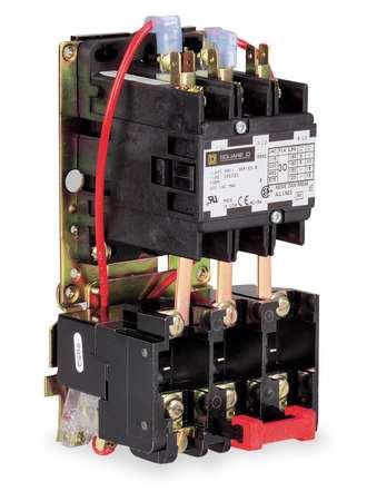 DP Motor Starter, 3P, 50A, 120V Coil, Open
