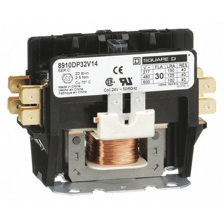 24VAC Non-Reversing Definite Purpose Contactor 2P 30A