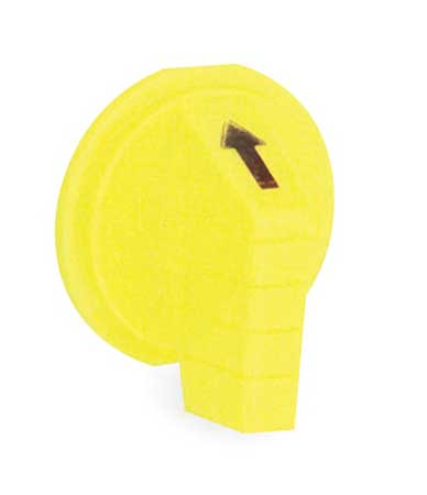 Selector Switch Knob, Lever, Yellow, 30mm
