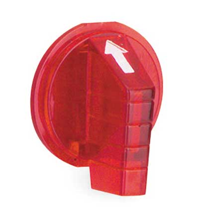Selector Switch Knob, Lever, Red, 30mm