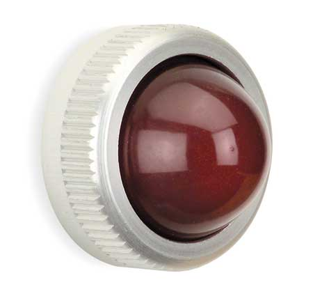 Pilot Light Lens, 25mm, Red, Glass