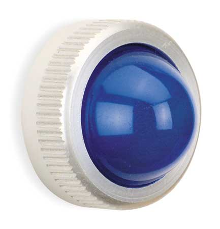 Pilot Light Lens, 30mm, Blue, Glass