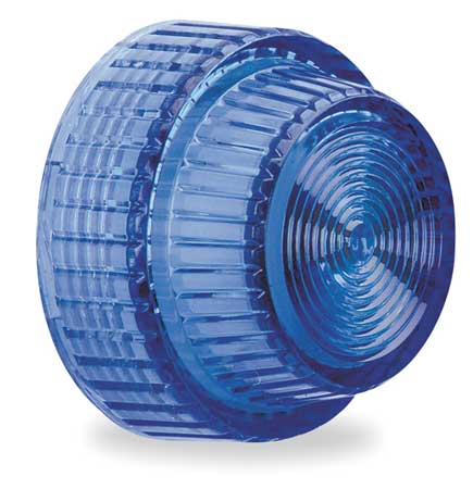 Pilot Light Lens, 30mm, Blue, Plastic
