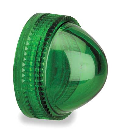 Pilot Light Lens, 30mm, Green, Plastic