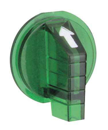 Selector Switch Knob, Lever, Green, 30mm