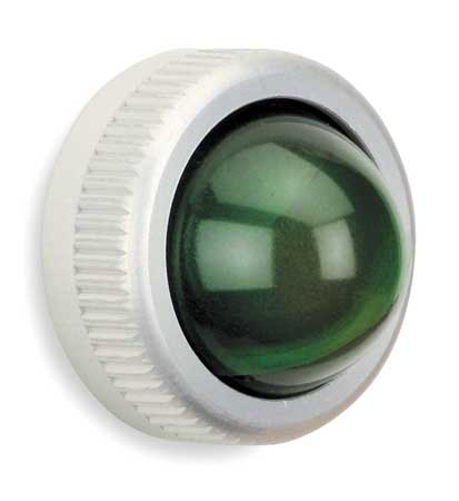 Pilot Light Lens, 25mm, Green, Glass