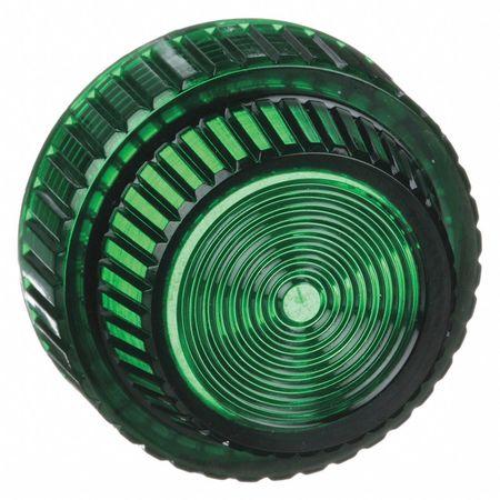 Pilot Light Lens, 30mm, Green, Plastic