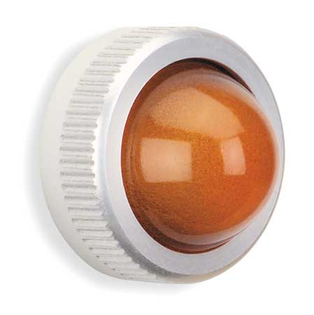 Pilot Light Lens, 25mm, Amber, Glass