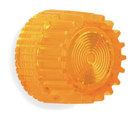 Push Button Cap, Illuminated, 30mm, Amber
