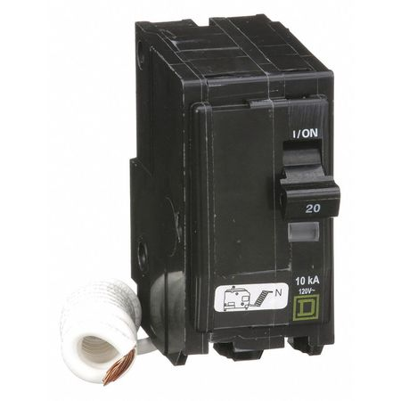Qwik-Open 2P Switched Neutral Plug In Circuit Breaker 20A 120/240VAC