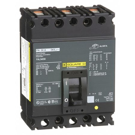 3P Standard Circuit Breaker 30A 480VAC
