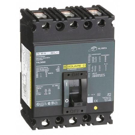 3P Standard Circuit Breaker 40A 480VAC