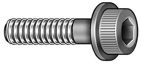 M10-1.50 x 50mm Furnace Black 12.9 Alloy Steel Flange Head Cap Screw,  5 pk.