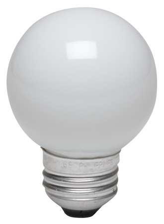 GE LIGHTING 25W,  G16 1/2 Incandescent Light Bulb