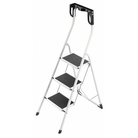 Household Step Stool, Steel, 11-7/8 In. W
