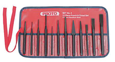 Punch and Chisel Set, 12 Pieces
