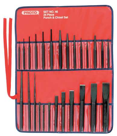 Punch and Chisel Set, 26 Pieces