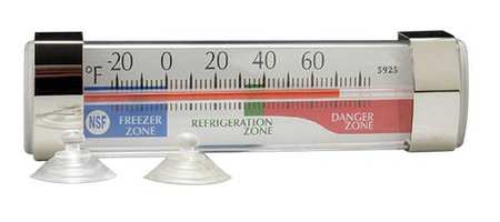Thermometer, Refrigerator, -20 to 60F