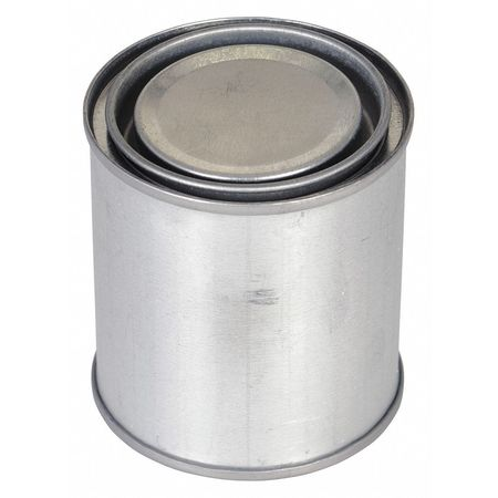 Round Metal Can,  8 oz,  With Lid