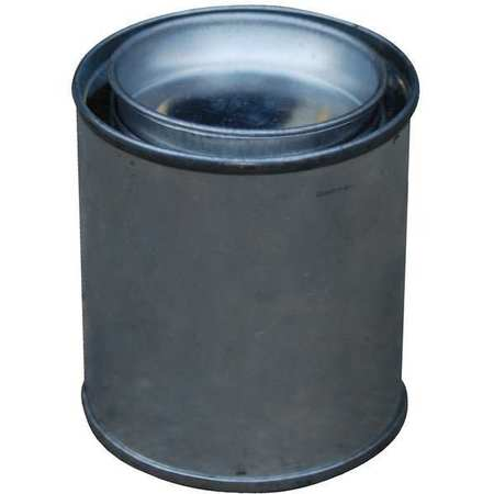 Round Metal Can, 4 oz, With Lid