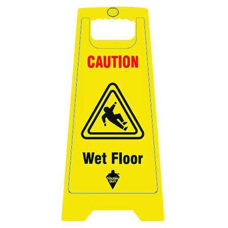 Floor Safety Sign,  Caution Wet Floor, Eng