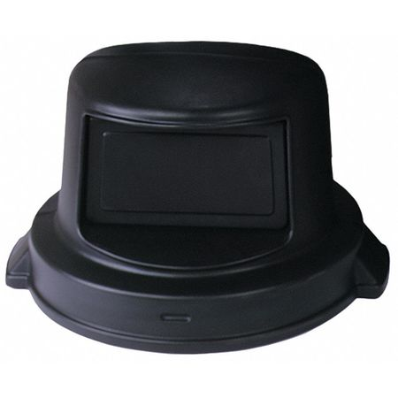 Trash Can Top, Dome, Swing Closure, Black