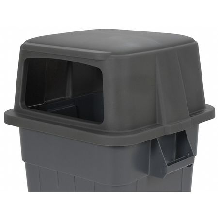 Trash Can Top, Canopy, Stays Open, Gray