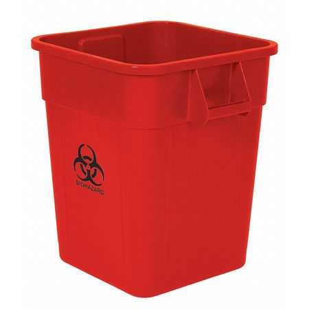 Biohazard Waste Container, 32 Gal.,  Red