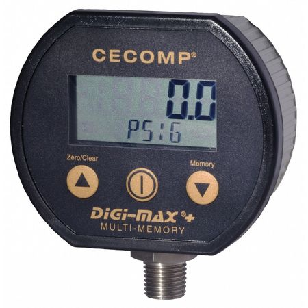 Digital Pressure Gauge, 0 to 500 PSI