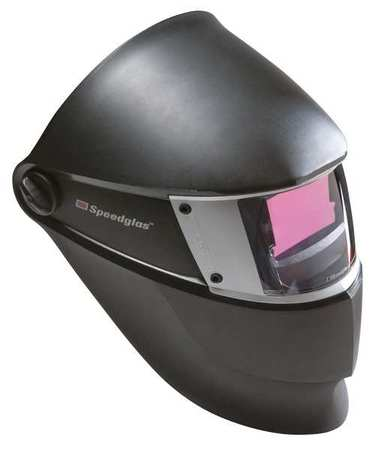 Welding Helmet, Shade 8to12, Black/Silver