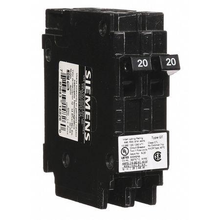 2P Duplex Plug In Circuit Breaker 20A 120/240VAC