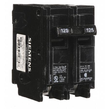 2P Standard Plug In Circuit Breaker 125A 120/240VAC
