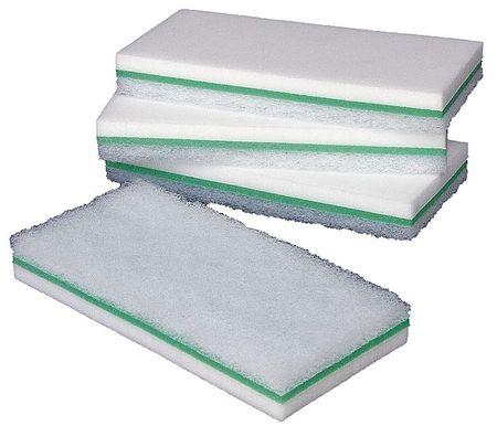 "Melamine Utility Scrub Pad, White, 9""L, PK6"