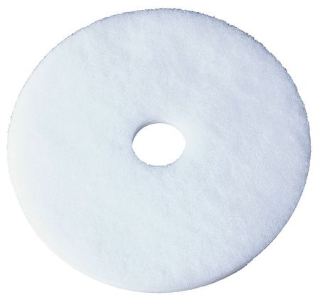 Floor Pad, 13 In, White, PK5