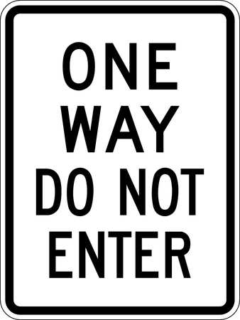 Traffic Sign, 24 x 18In, BK/WHT, DMD GR AL