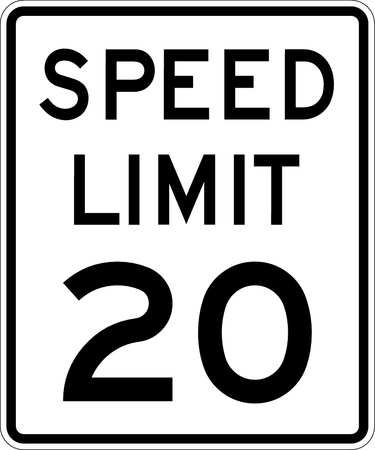 Traffic Sign, 24 x 18In, BK/WHT, DMD GR AL