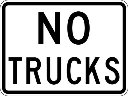 Traffic Sign, 18 x 24In, BK/WHT, DMD GR AL