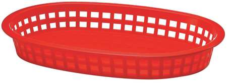 Platter Basket,  Oval,  Red, PK36