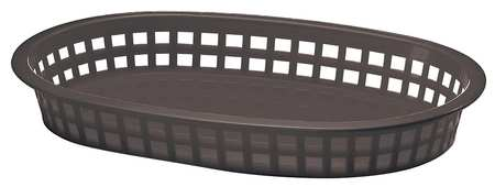 Platter Basket,  Oval, Black, PK36