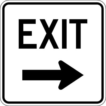 Traffic Sign, 18 x 18In, BK/WHT, DMD GR AL