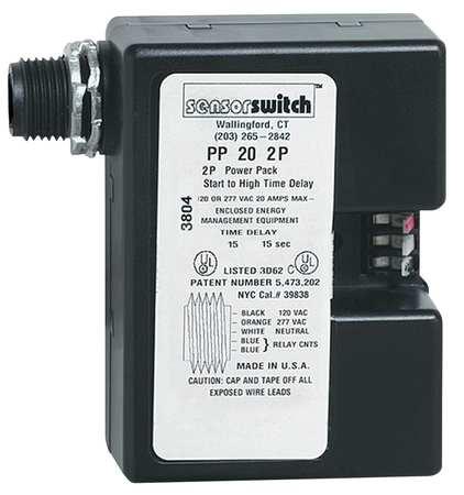 Power Pack, RlyCktProt, 2Pole, 120/277V, Blk