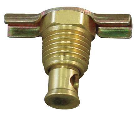 Drain Cock, Brass, MNPT, 1/2 In