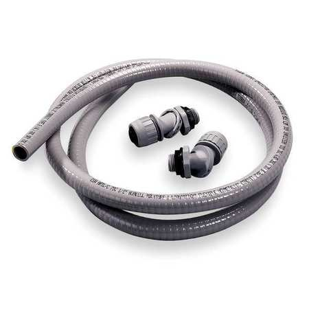 Liquid-Tight Conduit, 1/2 In x 6 ft, Gray