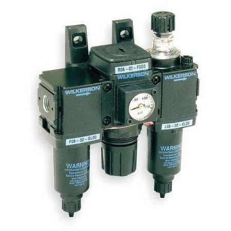 Filter/Regulator/Lubricator, 1/4 In. NPT